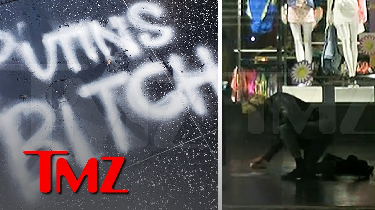 President Trump is 'Putin's Bitch' According to Vandalized Hollywood Star | TMZ 1