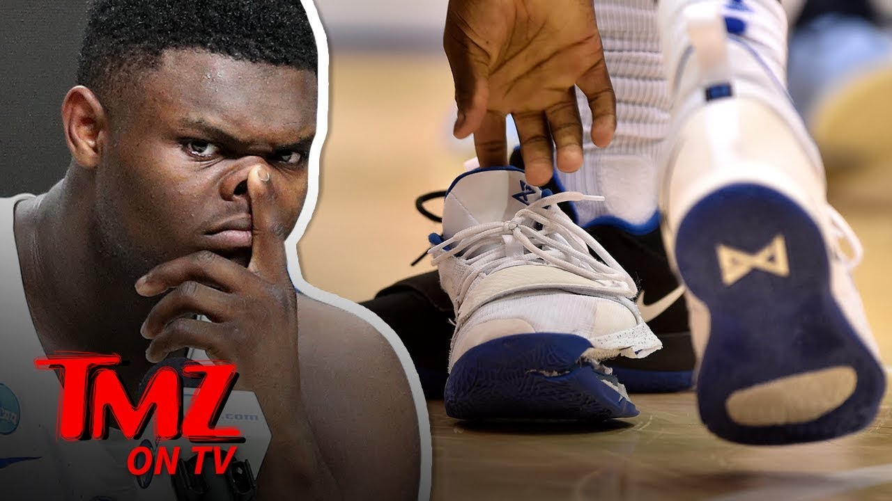 Zion Williamson's Blown Out Nike Shoe Is Missing & Could Be Worth $250K! | TMZ TV 5