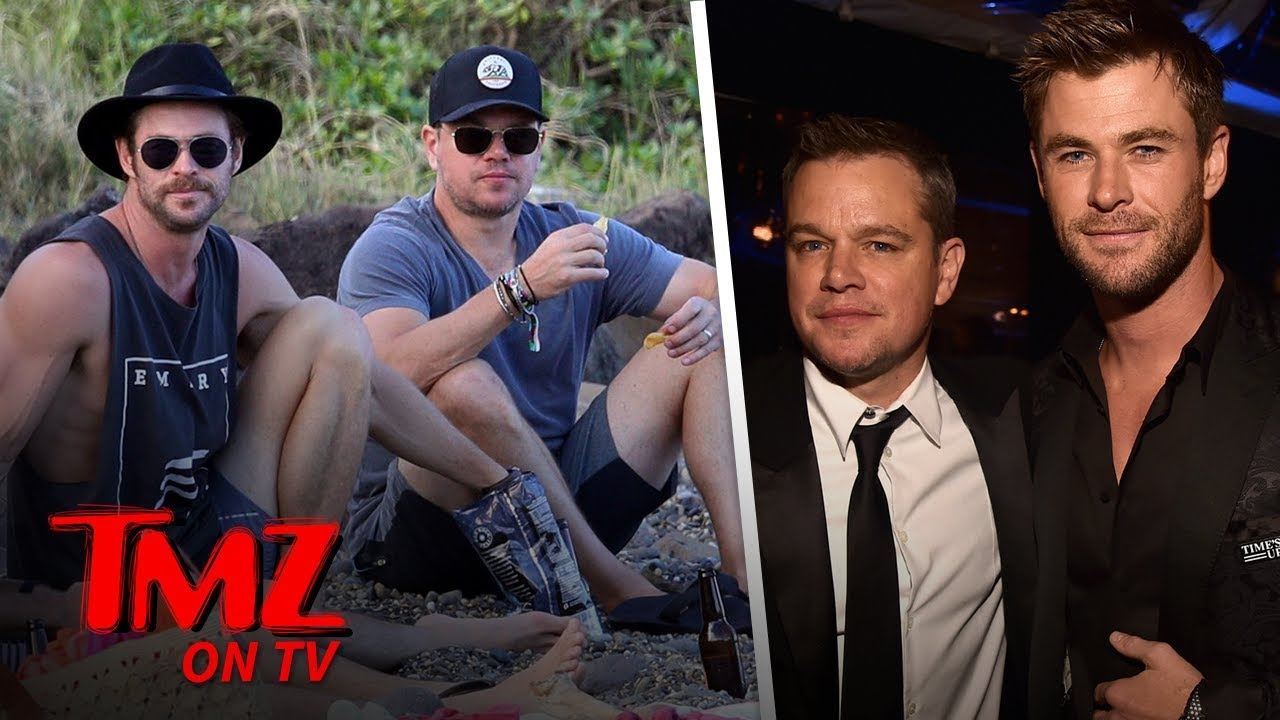Matt Damon & Chris Hemsworth Are BFFs Now! | TMZ TV 4