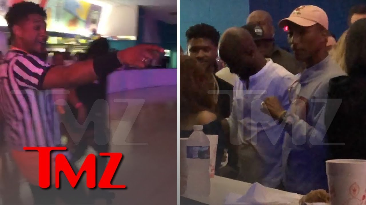 Pharrell, Usher, Pusha T Party at Roller Skating Rink Before Music Fest | TMZ 2