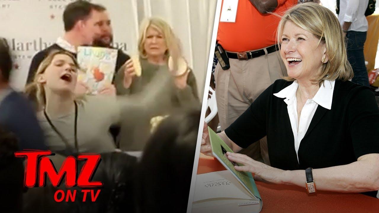 Martha Stewart Heckled By Anti-Fur Activist | TMZ TV 5