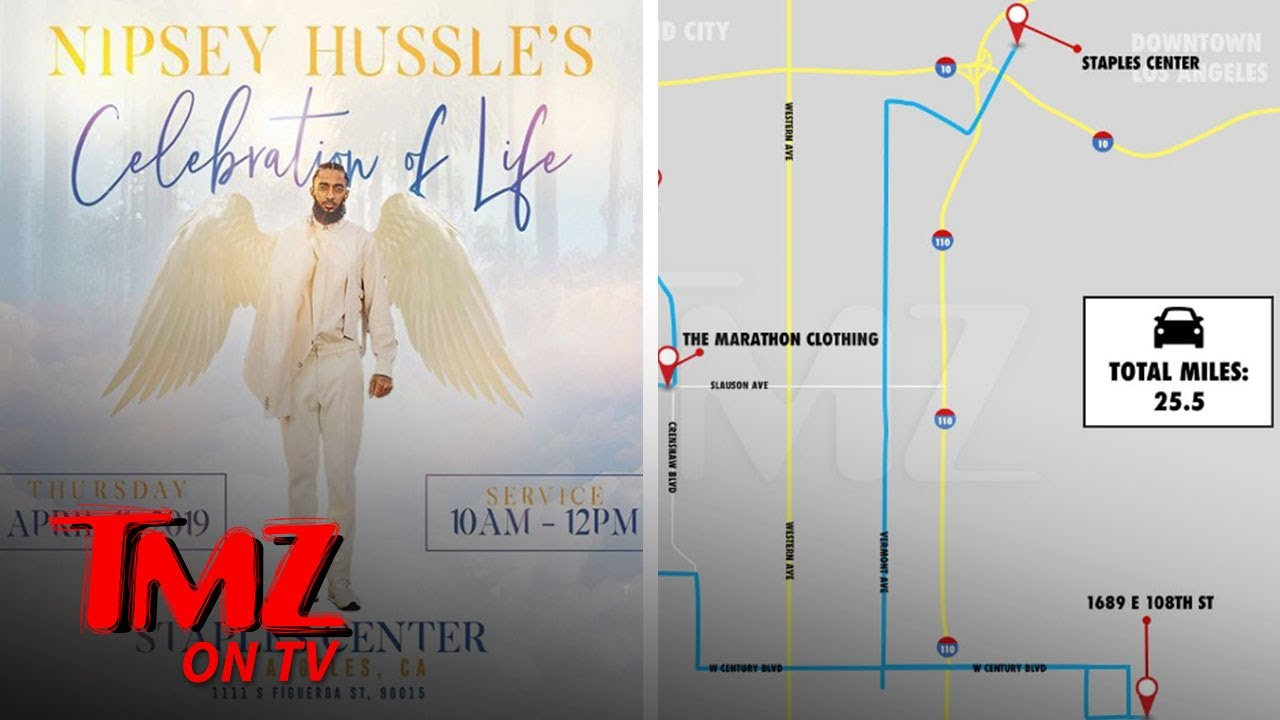 Nipsey Hussle Memorial To Be Held at L A 's Staples Center | TMZ TV 9