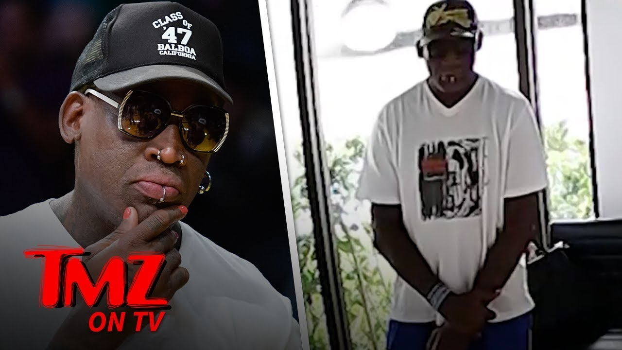 Dennis Rodman Clothing Heist Caught On Video! | TMZ TV 5