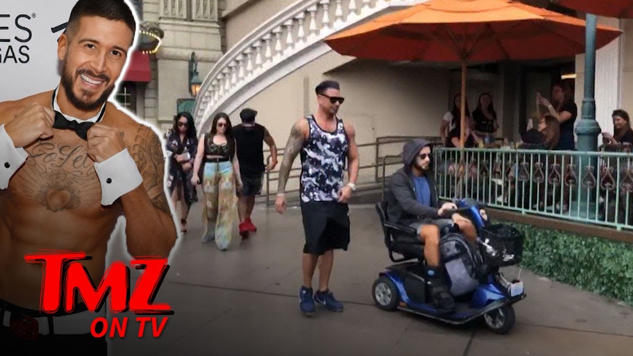 Jersey Shore's Vinny Sprains Ankle Rehearsing For Chippendales | TMZ TV 2