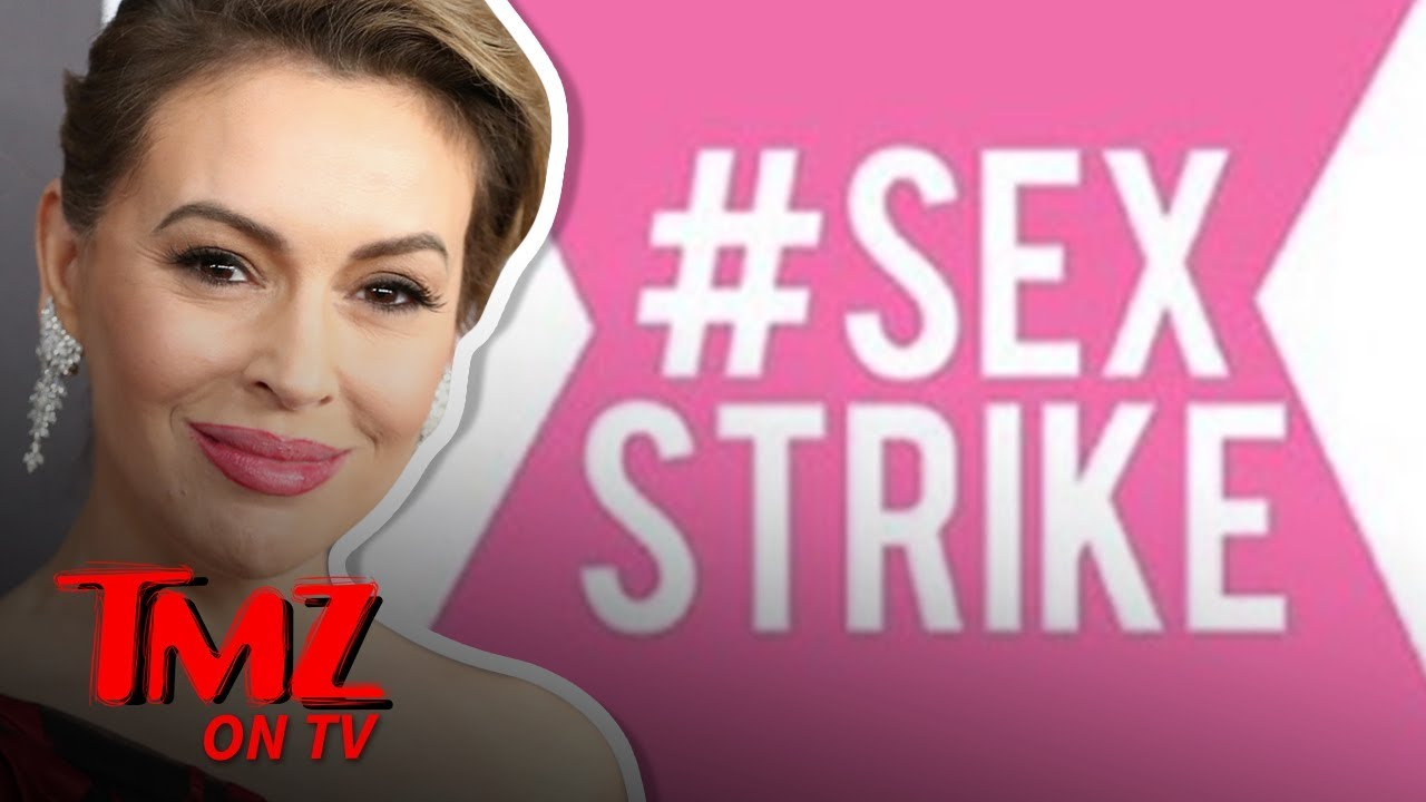 Alyssa Milano Calls for 'Sex Strike' Over Georgia Anti-Abortion Law | TMZ TV 4