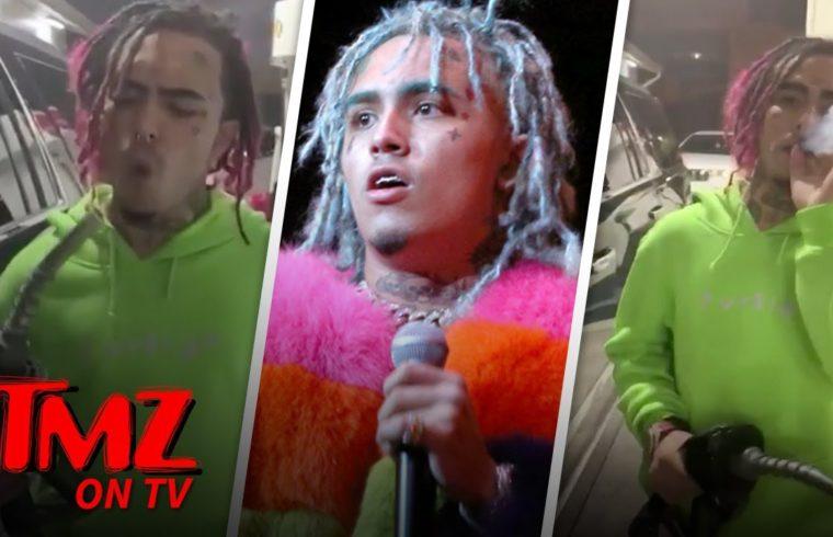 Lil Pump Smokes A Blunt While Pumping Gas | TMZ TV 1