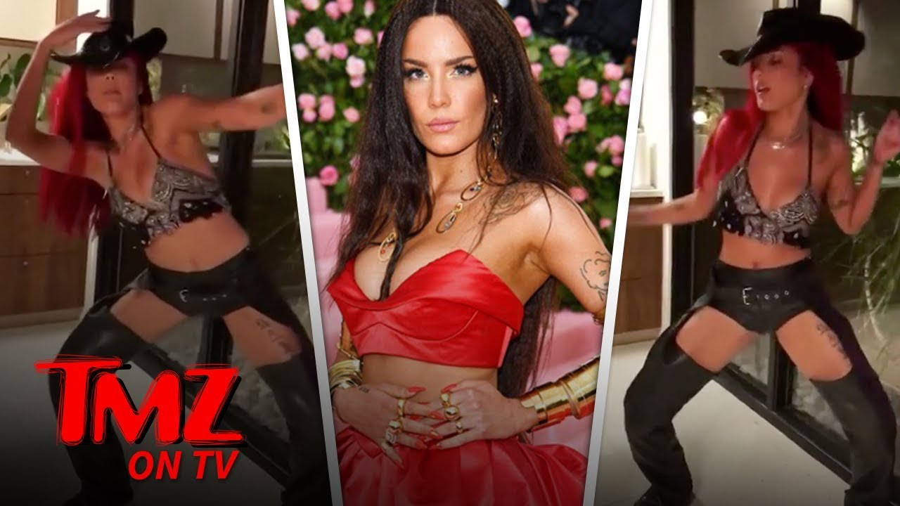 Halsey Twerks in Assless Chaps to Lil Nas X's 'Old Town Road' | TMZ TV 4