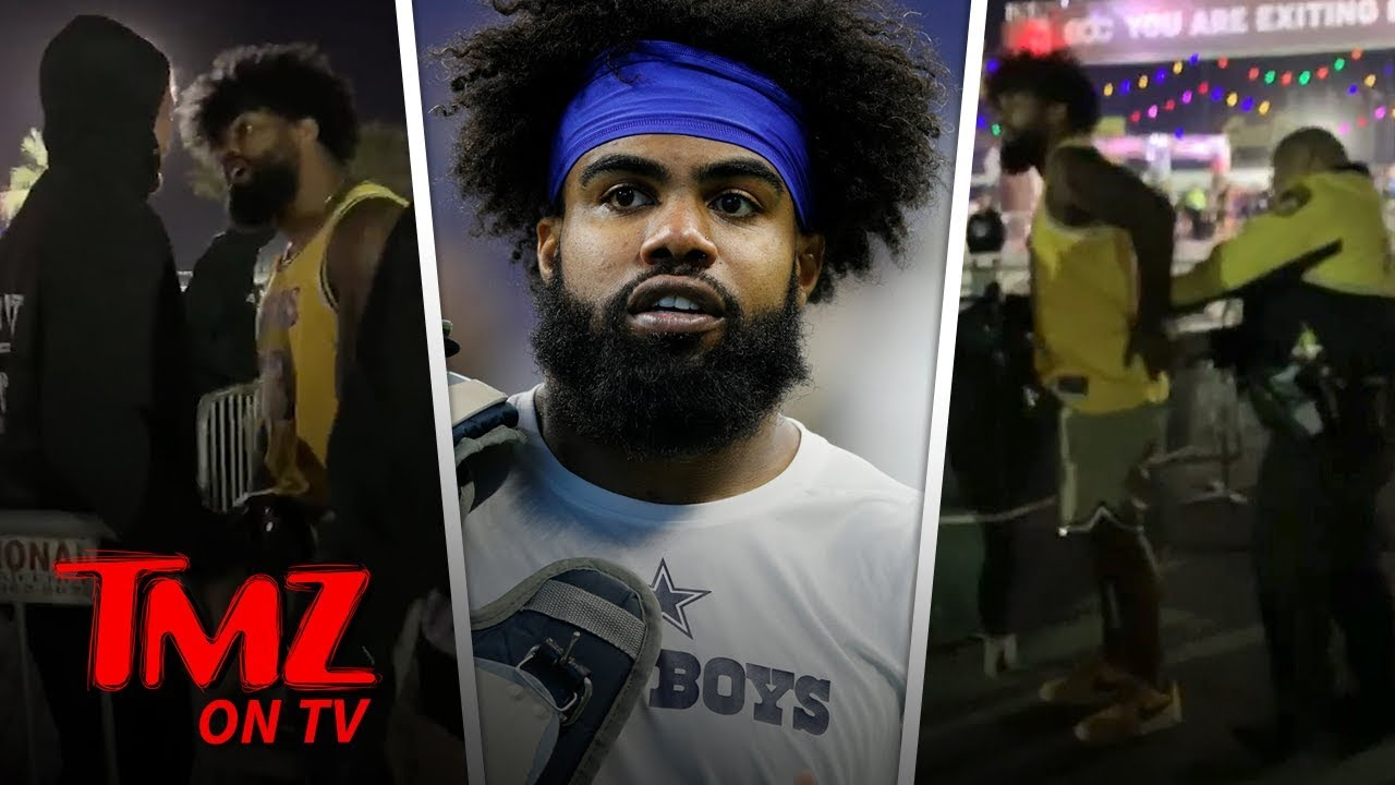 NFL Star Ezekiel Elliott Handcuffed at EDC Vegas After Altercation | TMZ TV 3