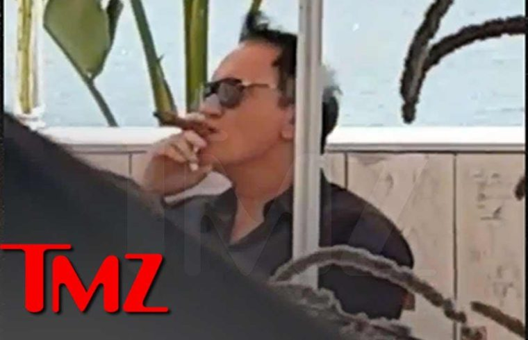 Quentin Tarantino Smokes a Cigar Days After 'Snapping' at Cannes | TMZ 1