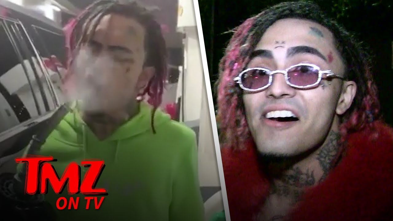 Lil Pump Doesn't Care About Blowing Up A Gas Station | TMZ TV 5