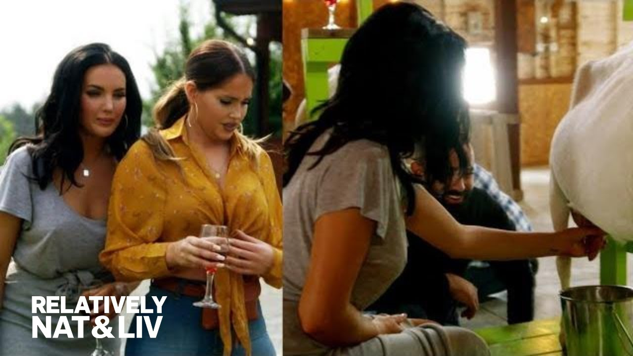 Olivia Pierson's Goat Milking Experience Goes Sour! | Relatively Nat & Liv | E! 3