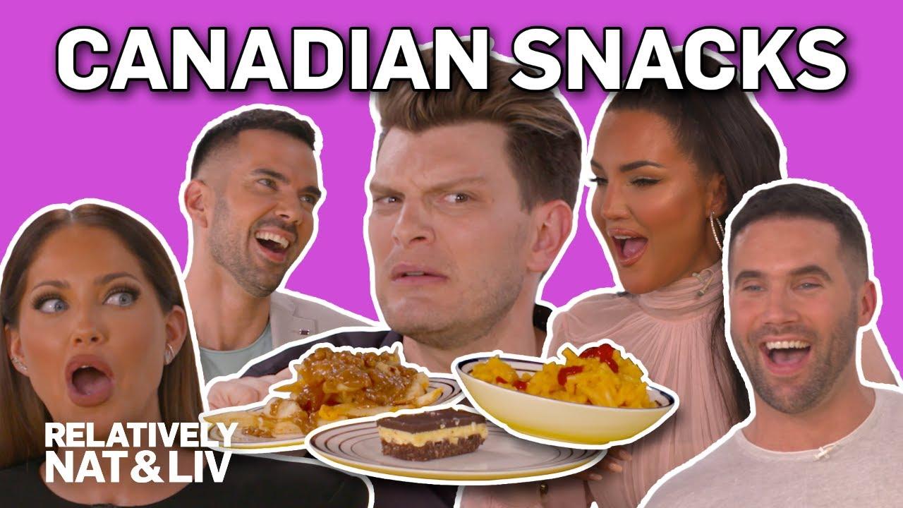 Natalie Halcro & Olivia Pierson's Fave Canadian Snacks | Relatively Nat & Liv | E! 3