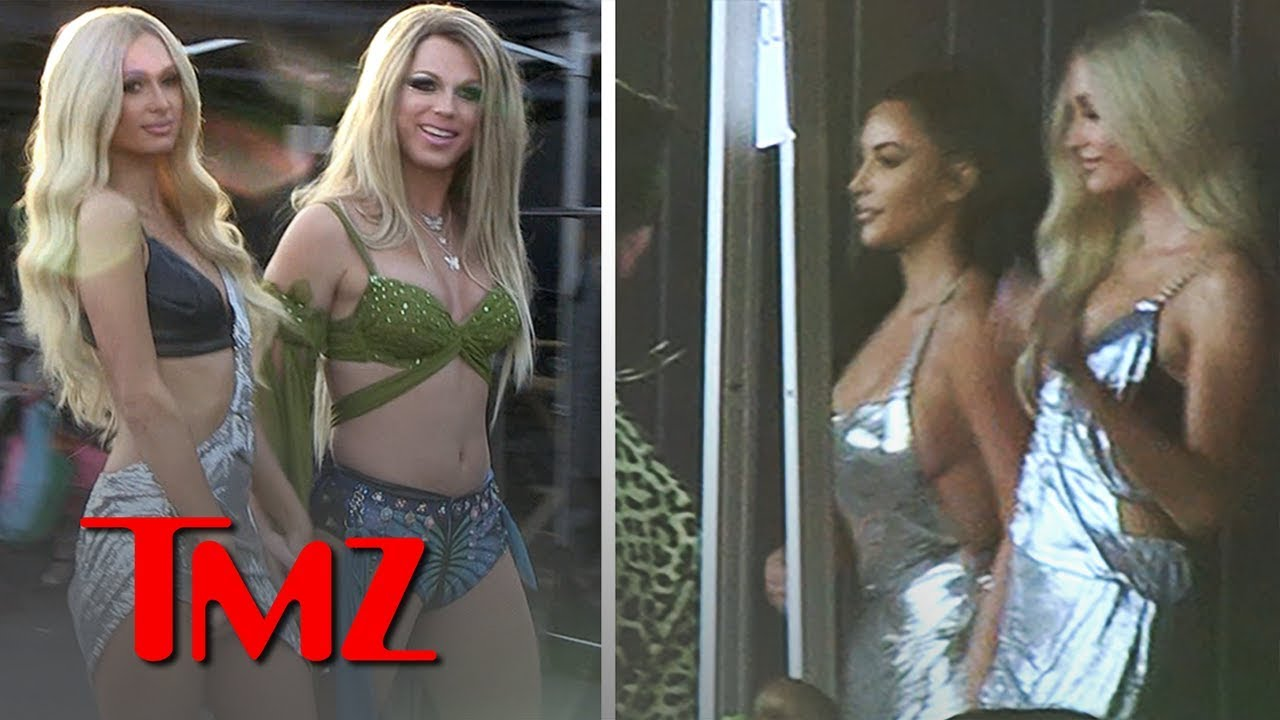Kim Kardashian On Set for Paris Hilton's New Music Vid, 'Best Friend's Ass' | TMZ 2