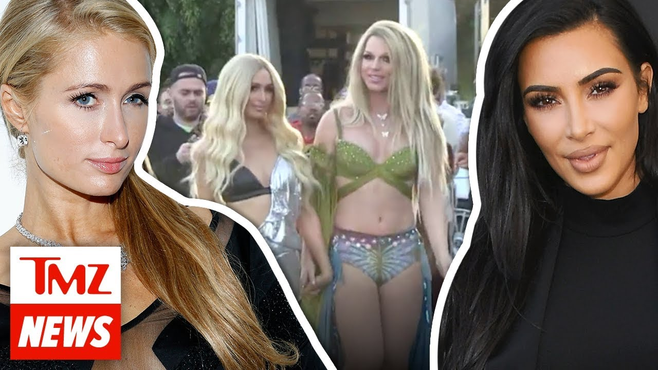 Former BFF Kim Kardashian On Set for Paris Hilton's New Music Vid | TMZ NEWSROOM TODAY 5