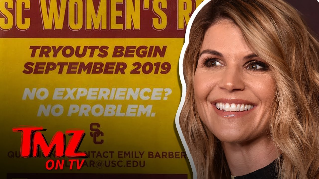 USC Women's Rowing Poster Takes Jab at Lori Loughlin Daughters | TMZ TV 5