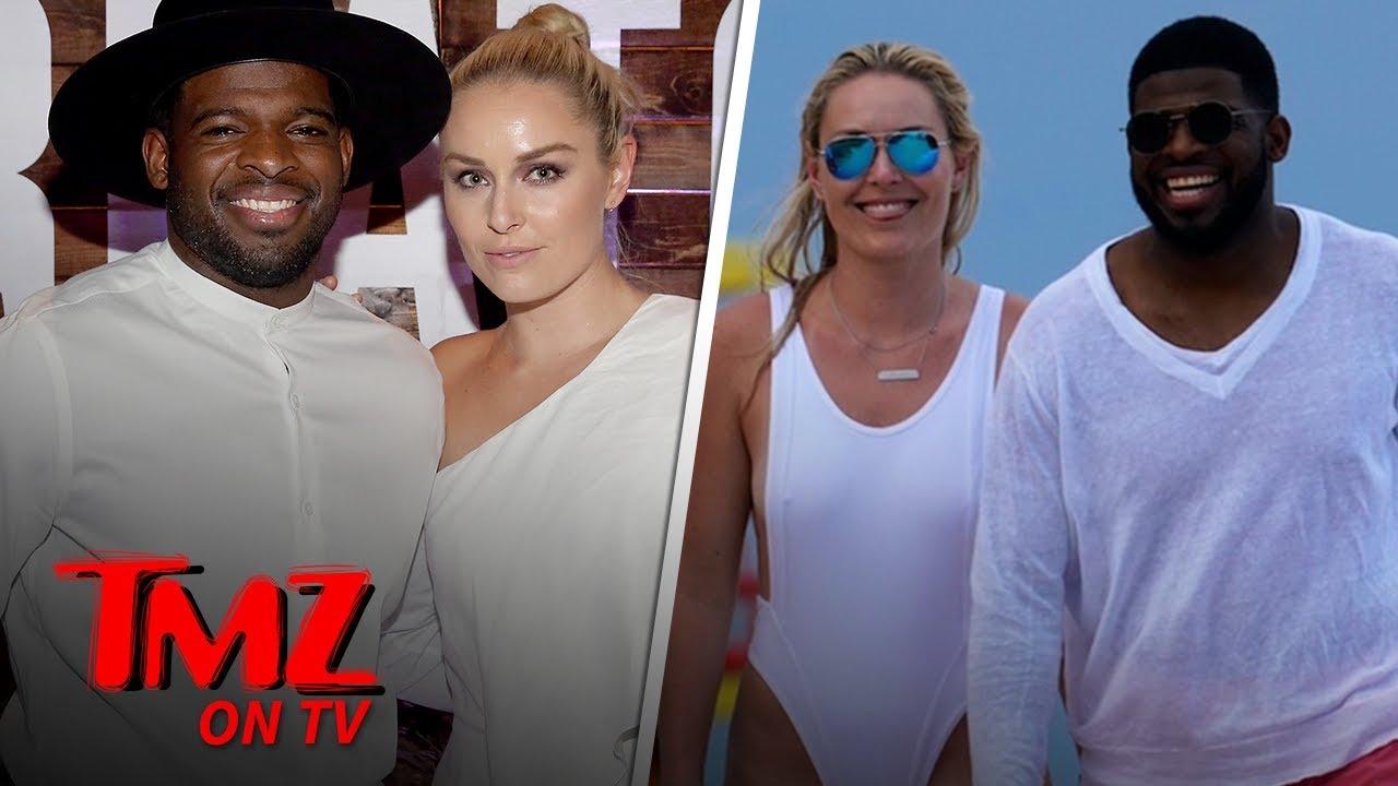 Lindsey Vonn Hits Beach with Boyfriend P.K. Subban in Amazing Bathing Suit | TMZ TV 1