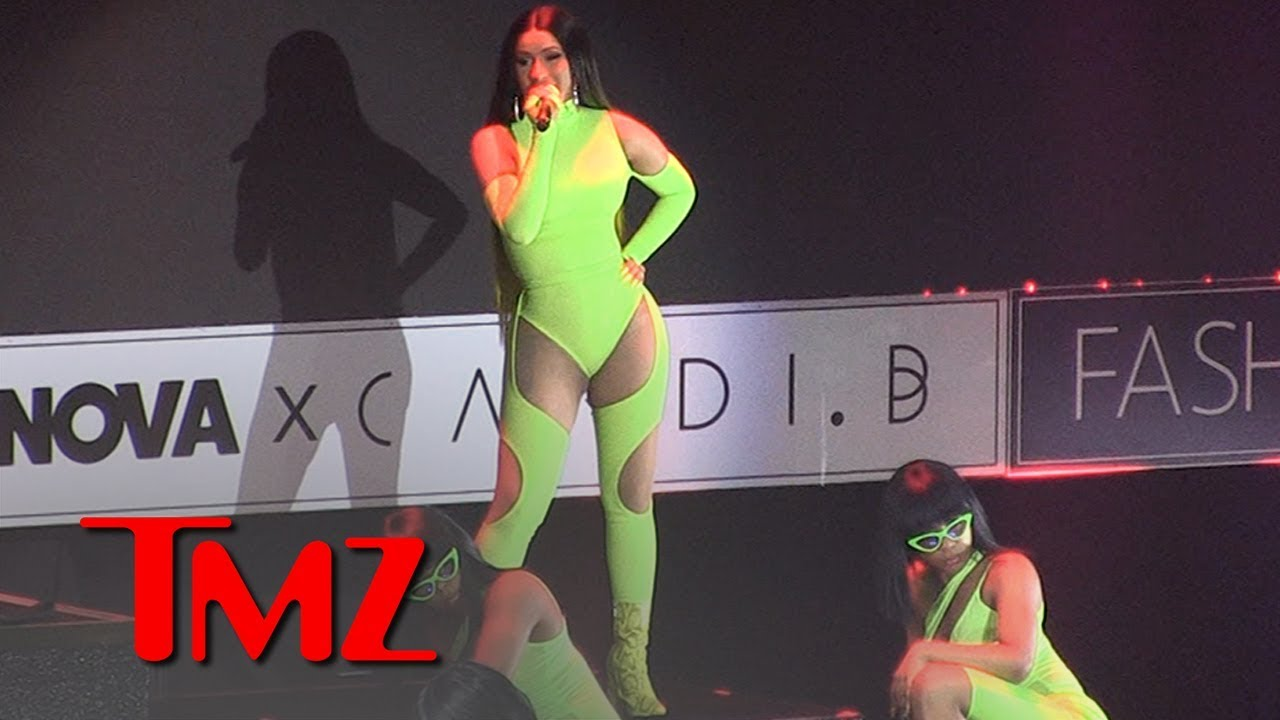 Cardi B's Booty Poppin' Performance Steals New Fashion Line Show | TMZ 8