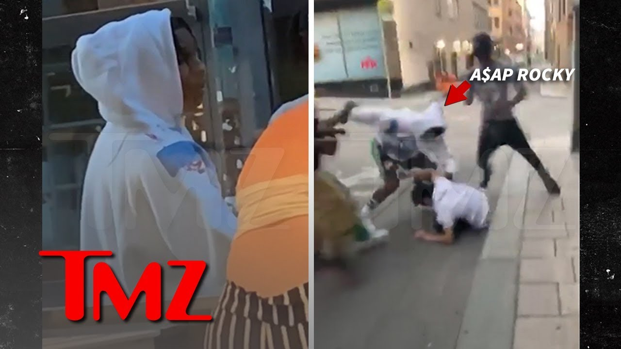 A$AP Rocky and Crew Allegedly Attack Guy on Street in Stockholm | TMZ 1