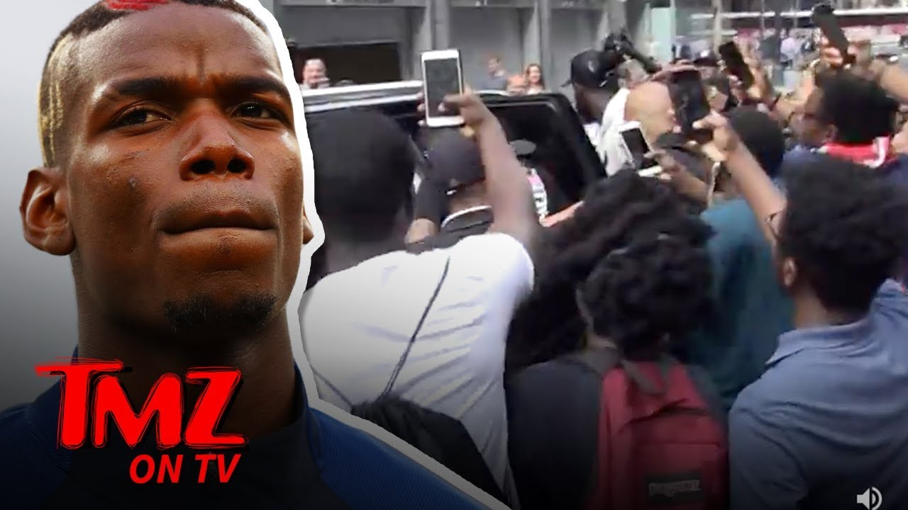 Paul Pogba Fan Crush In NYC Was Mind Blowing Craziness | TMZ TV 4