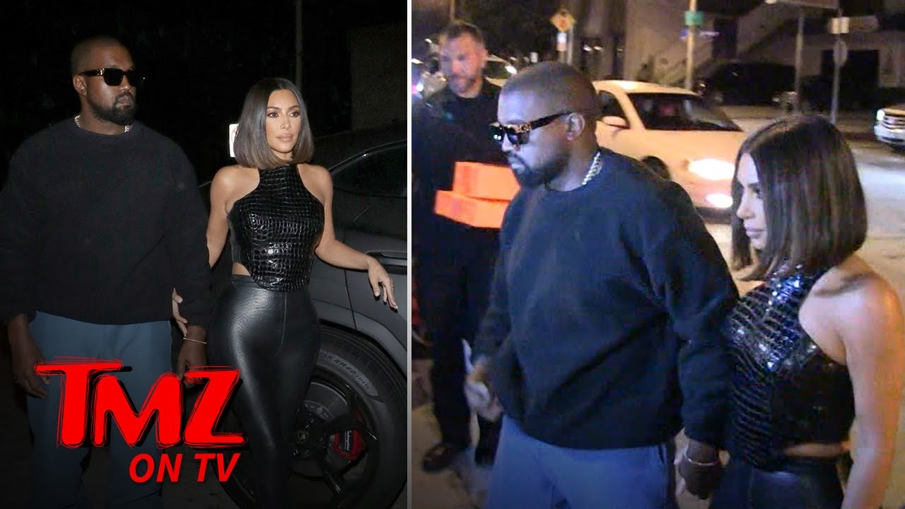 Kim & Kanye Hit The Town Looking Better Than Ever | TMZ TV 1